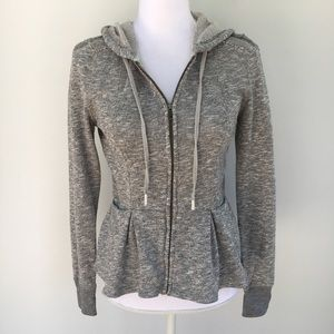 Anthropologie Tops - Anthro Saturday Sunday peplum zip hood sweatshirt